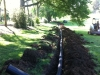 Drainage Installation from Pond Leak