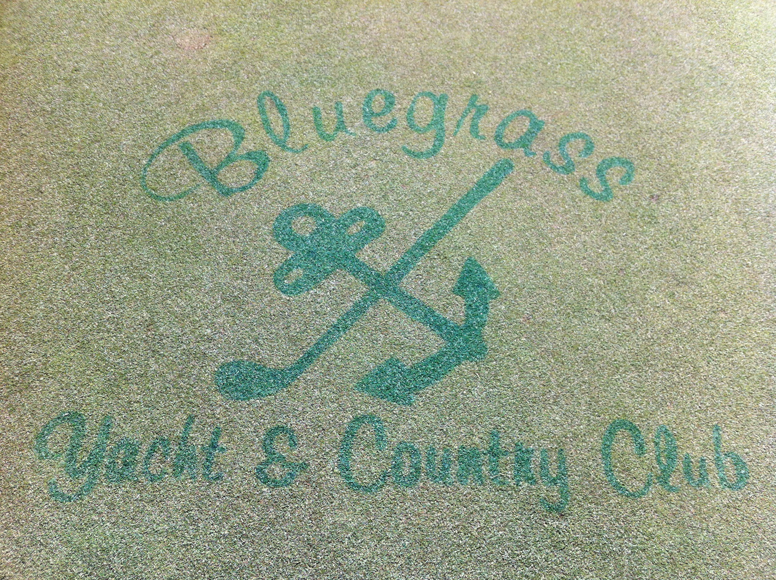 Logo Painted on the Putting Green
