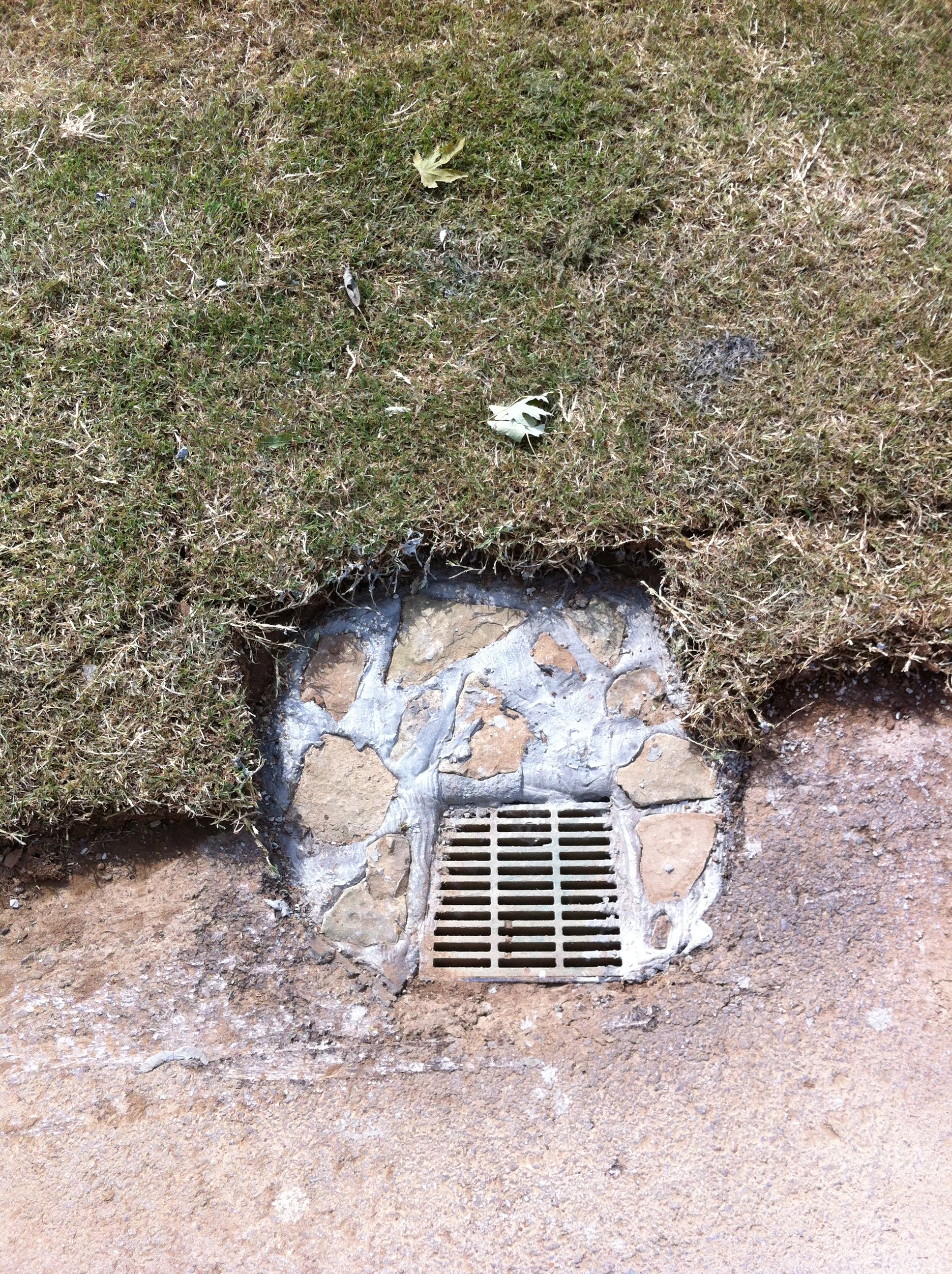 Once Hidden Drain Boxes, Now Rock Edged for Protection in the Years to Come