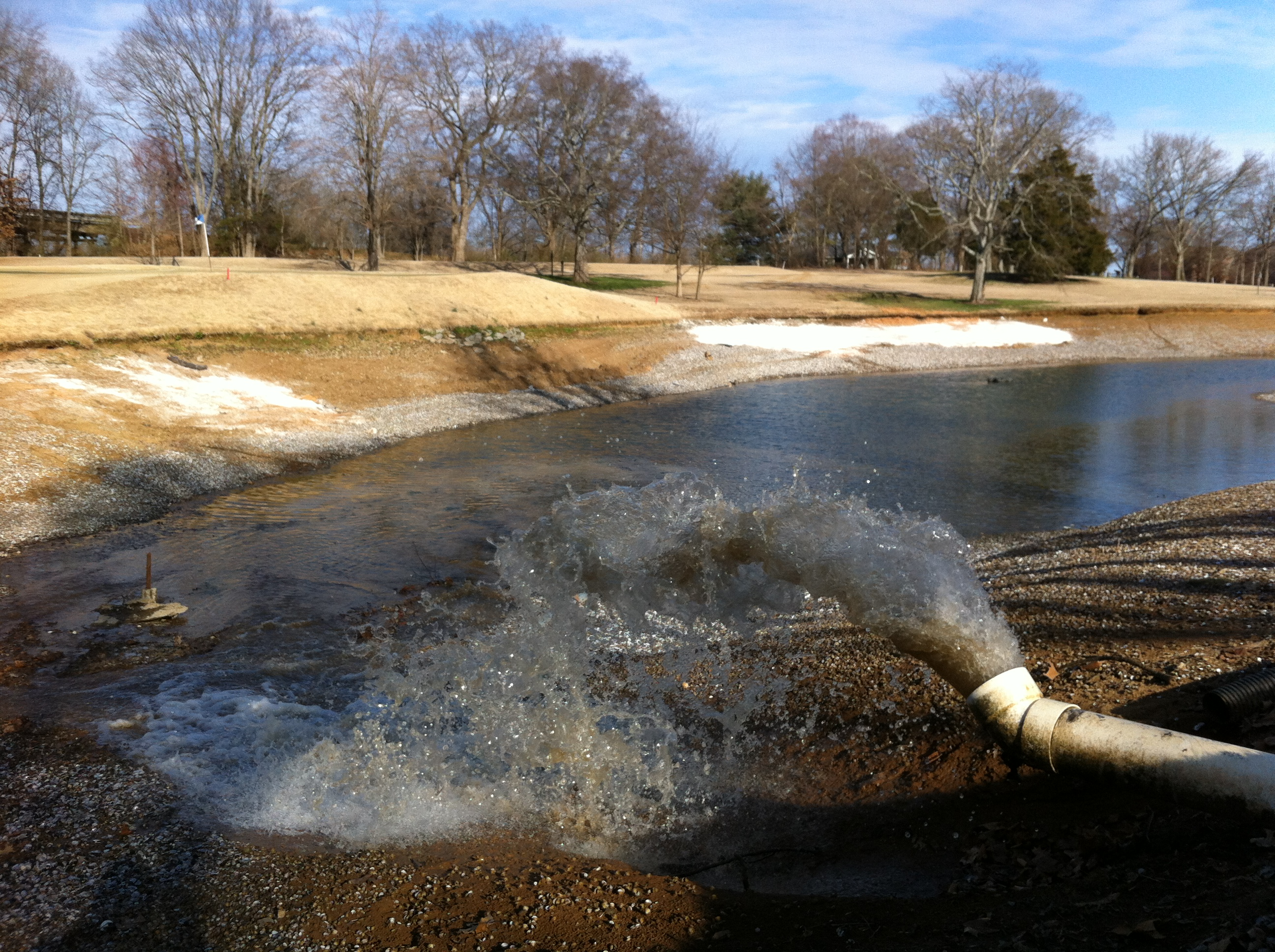 Water Flowing From the Transfer Station