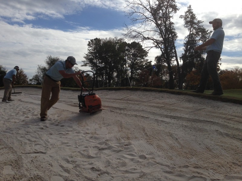 Compacting Bunker Faces